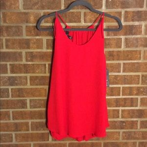 NWT BCX Urban Outfitters Red Crepe Sleeveless Top